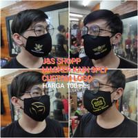 Masker kain 3ply khusus custom logo HARGA 100pcs