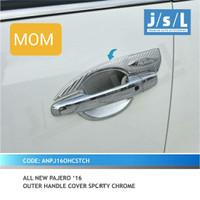 JSL Outer handle mangkok pintu sporty chrome All New Pajero Sport