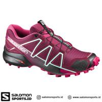 Salomon Speedcross 4 Sepatu Running Wanita – Red Pink Tibetan - 7.5