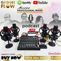 PAKET PODCAST PREMIUM 4 Mic LGT-240 Mixer Microverb NEO M8 8 Channel