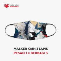 Masker Kain 3 Lapis (3 Ply) Earloop - Desain oleh Ario Manon