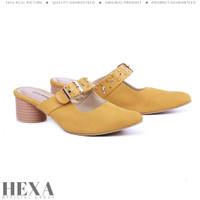 Sepatu Sandal Wanita High Heels Sendal Pesta Cewek Hak Tahu 5cm Kuning