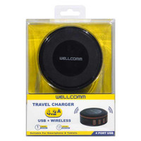 Travel Charger 4.2A + Wireless Wellcomm (black/yellow)