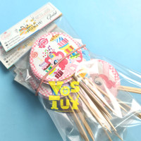 CAKE TOPPER TEMA KARAKTER MY LITTLE PONY ISI 6 PCS / TUSUKAN KUE TART