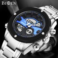 BIDEN jam tangan pria Multifungsi Tampilan Tanggal Chronograph jam