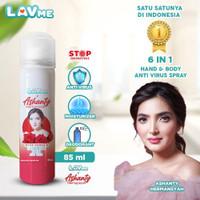 Lavme X Ashanty 6 In 1 Hand & Body Spray Anti Virus - Rose Vanilla
