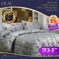Lilac Premium Bed Cover Set Bergaransi | Premium Bedding Set - Single
