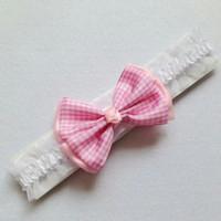 Pita bayi Baby Headband Baby Bow headband Bandana Anak Bandana bayi - Pink Muda