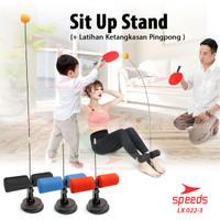 Alat bantu olahraga penahan yoga gym rumah Sit up stand holder LX022-1 - SitUpMerah1Set