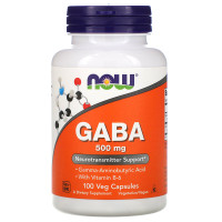 Now Foods Vegan Gaba 500mg Neurotransmitter Support isi 100 Veg Capsul