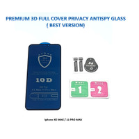 Iphone 11 PRO MAX 3D FULL Privacy Anti Spy / Antispy Tempered Glass