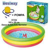 Paket Pompa dan 51104 Kolam Renang Anak Bestway Uk 102cm X 25cm