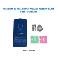 Iphone XS MAX 3D FULL Privacy Anti Spy / Antispy Tempered Glass