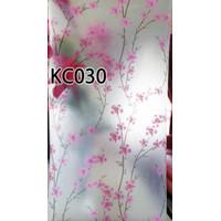 KC030 BARU SANDBLAST STICKER KACA 45CM X 5M PINK FLOWER KACA FILM WALL