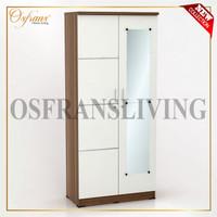 OSFRANS Termurah Lemari Pakaian 2 Pintu + Cermin ALBA 2 LT