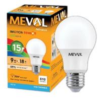 Bohlam LED Motion Sensor (Sensor Gerak) 9 Watt MEVAL (Standar SNI)