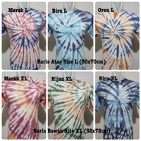 Kaos Tie Dye Size L dan XL| Tie Dye Tee| Baju Tie Dye Murah