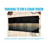 kain kanvas jok racing bride gradasi / bride gradition import original