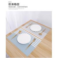Tatakan piring alas meja makan pvc tahan panas Anti Slip motif garis
