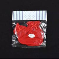 MIYO 1 Set Sarung Tangan & Kaos Kaki Karet Bayi/Baby Merah (0-3M)