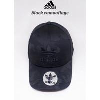 Topi baseball Adidas black camouflage import premium/topi unisex