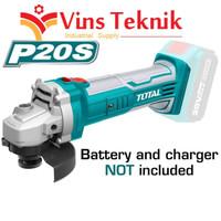 UNIT ONLY mesin gerinda baterai cordless angle grinder TOTAL TAGLI1001