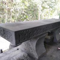kursi taman dari batu asli panjang 1.5 meter
