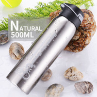 Botol Minum Sepeda Thermos Bicycle Kettle Drink Bottle Stainless Steel