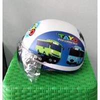 Helm Anak Biru Putih Tayo