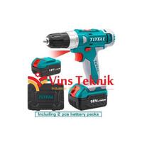 Mesin bor baterai cordless 18V TOTAL TIDLI228180 hammer drill