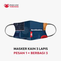 Masker Kain 3 Lapis (3 Ply) Earloop - Desain oleh Darahkubiru