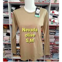 NEVADA T shirt Kaos Cewek polos lengan panjang