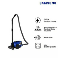 SAMSUNG - CANISTER VACUUM CLEANER VCC4540S36/XSE