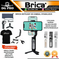 Brica B-Steady XS Gimbal HP 3-Axis Smartphone Stabilizer Bsteady - NEW - WHITE ROSEGOLD, PAKET STANDAR