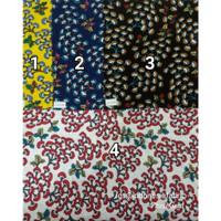 Kain Bahan Daster Homedress Gamis Kain rayon motif Bunga Mimosa