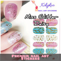 Kikykoo Premium nail art sticker miss glitter daisy