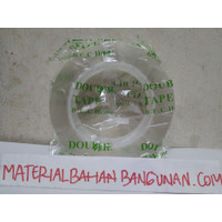 Double Tape Nano Magic 5 Meter B.E.C House Lakban Dinding Bening