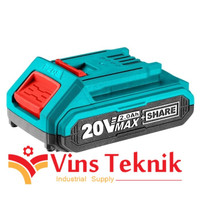 baterai TOTAL CORDLESS 20V Lithium-Ion Battery Pack 2.0AH