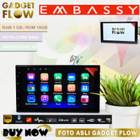 Head Unit ANDROID 7 Inch Embassy Double Din 1 / 16GB Octa Core