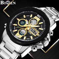 Biden Jam Tangan Pria Olahraga MiliteTampilan Tanggal Chronograph jam