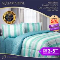 Aquamarine Premium Bed Cover Set Bergaransi | Premium Bedding Set - Single