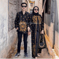 COUPLE BATIK SONGKET MATAHARI HITAM