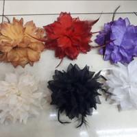 Kuncir Ikat Rambut Bunga Lancip Glitter Murah