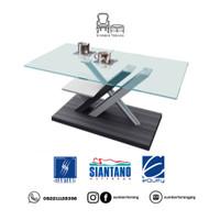 Coffee Table Siantano CT 004 / Meja Tamu Minimalis Kaca / Meja Kecil