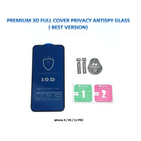Iphone X / XS 11 PRO 3D FULL Privacy Anti Spy / Antispy Tempered Glass