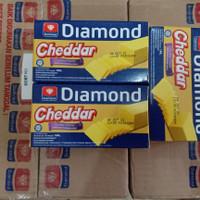 Keju Cheddar Diamond 180 Gram - Pcs | Cheddar Cheese Diamond 180gr