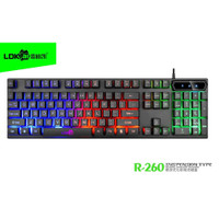 Keyboard Gaming - Gaming Keyboard RGB LED - LDKAI R260