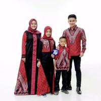 Baju Batik Sarimbit Muslim Keluarga Modern / Seragam Couple Keluarga