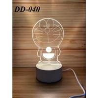 Lampu tidur Hias 3D LED Doraemon