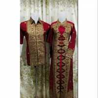 songket batik Palembang model gamis love